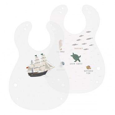 Lot de 2 bavoirs - Seven seas