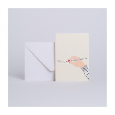 Carte double - Merci