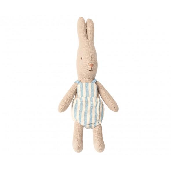 Petite poupée rabbit - Rayé bleu (Micro)