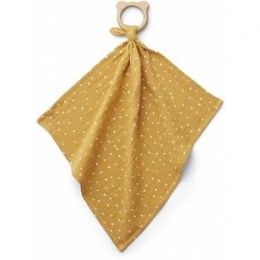 Anneau de dentition avec lange Dines - Confetti Yellow Mellow