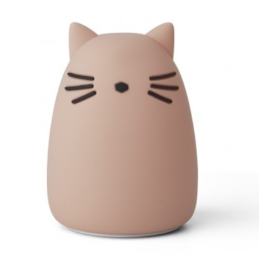 Veilleuse en silicone Winston - Cat (rose)