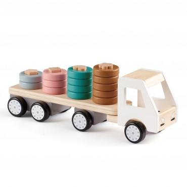 Camion avec anneaux Aiden en bois