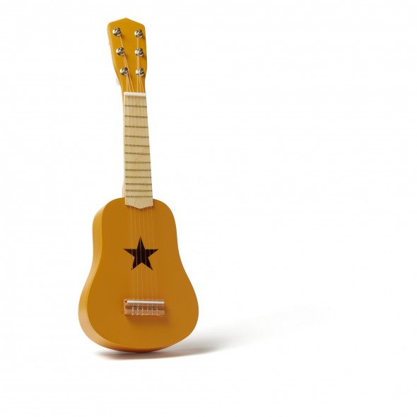 Guitare en bois - Moutarde