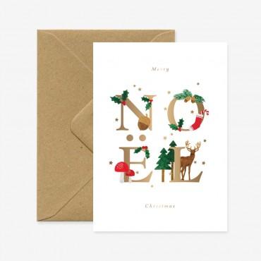 Carte double - Noël