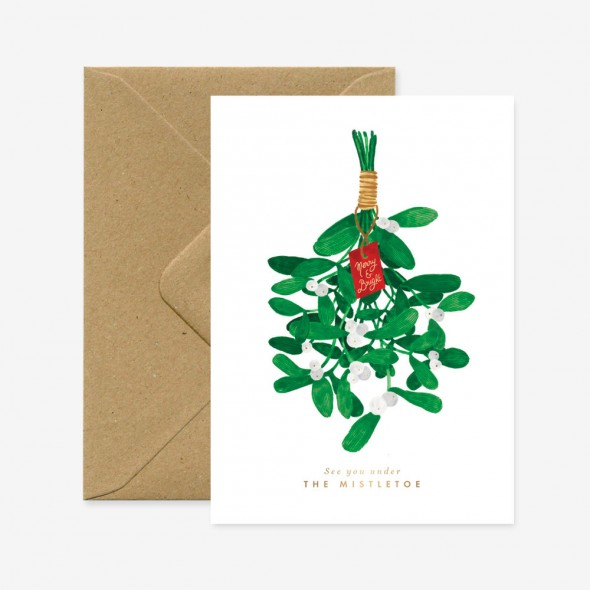 Carte double - Mistletoe