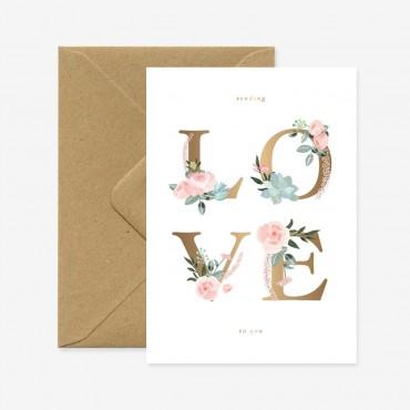 Carte double - Love Letters