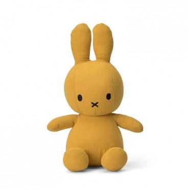 Peluche Miffy en mousseline de coton - Moutarde (23 cm)