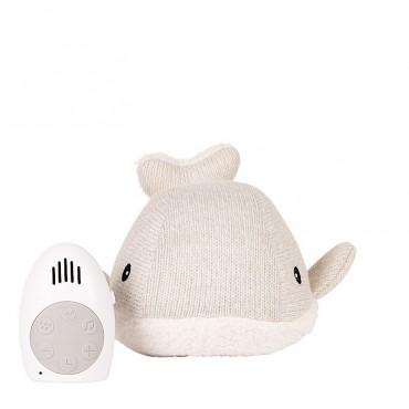 Peluche bébé comforter  - Baleine Moby (gris)