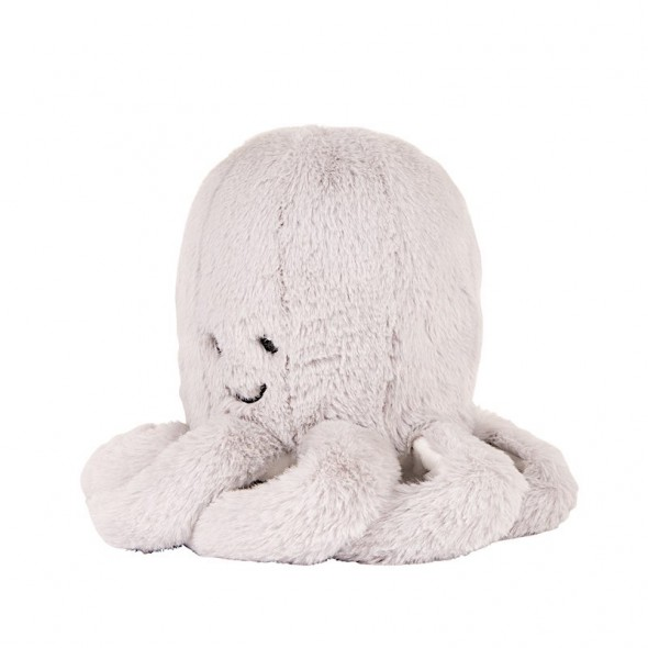Peluche bébé comforter  - Pieuvre Oli (gris)