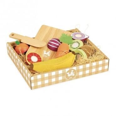 Set de fruits et légumes à découper, jour du marché