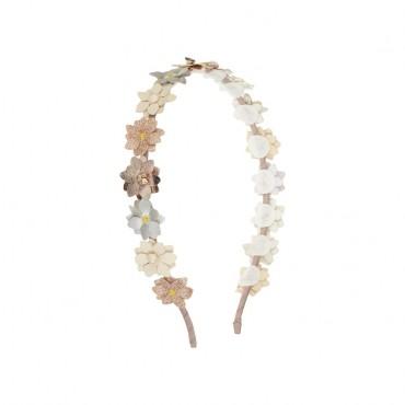 Serre-tête - Fleurs Alice métallique