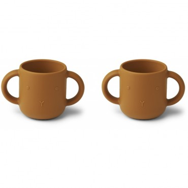 Set de 2 tasses en silicone Gene - Rabbit (moutarde)