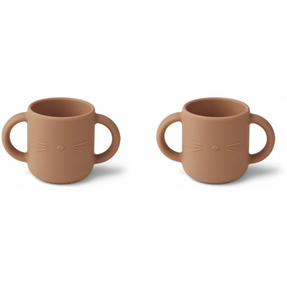 Set de 2 tasses en silicone Gene - Cat (tuscany rose)