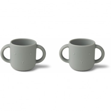 Set de 2 tasses en silicone Gene - Rabbit (dove blue)