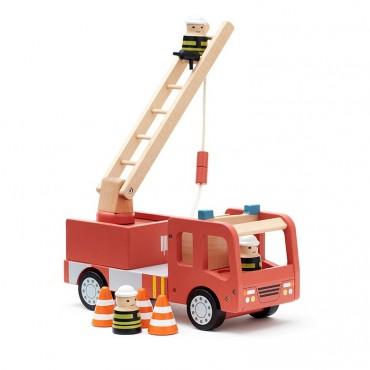 Camion de pompier Aiden en bois