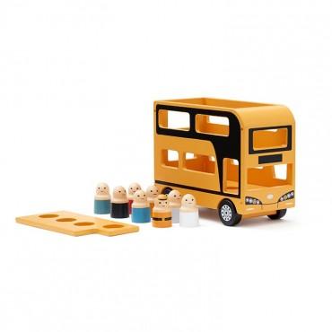 Autobus à 2 étages en bois