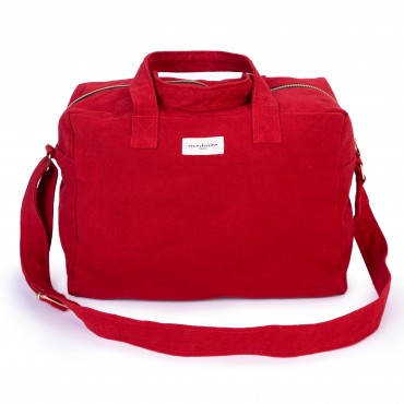 City bag SAUVAL en coton recyclé - Vibrant Red