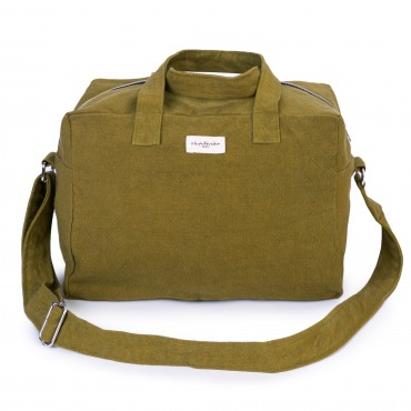 City bag SAUVAL en coton recyclé - Frosty Olive Green