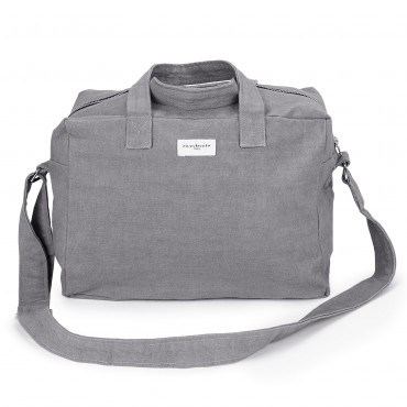 City bag SAUVAL en coton recyclé - Icy Grey