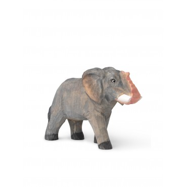 Animal sculpté en bois - Eléphant