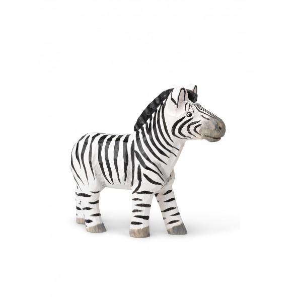 Animal sculpté en bois - Zèbre