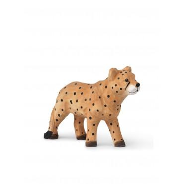 Animal sculpté en bois - Léopard