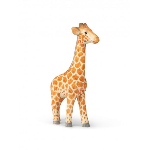 Animal sculpté en bois - Girafe