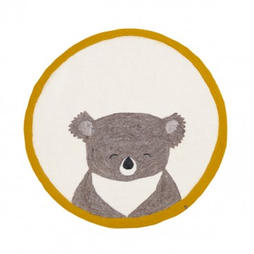 Tapis en feutre Pasu - Koala (pollen / naturel)