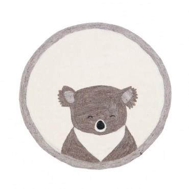 Tapis en feutre Pasu - Koala (pierre / naturel)