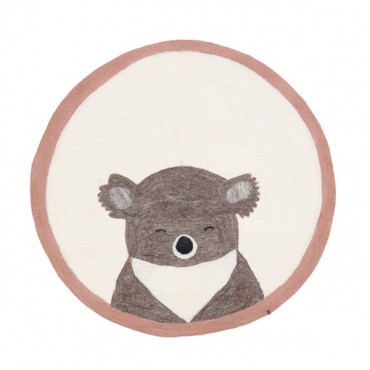 Tapis en feutre Pasu - Koala (rose quartz / naturel)
