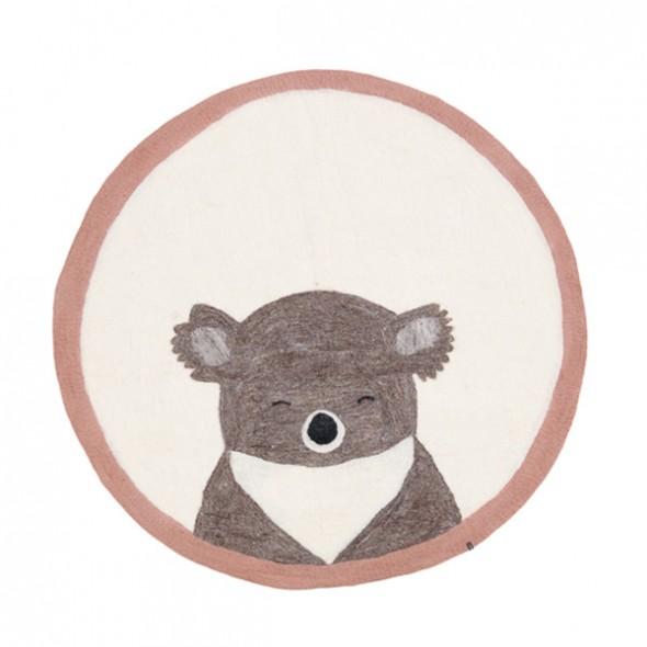Tapis en feutre Pasu - Koala (rose quartz / naturel)