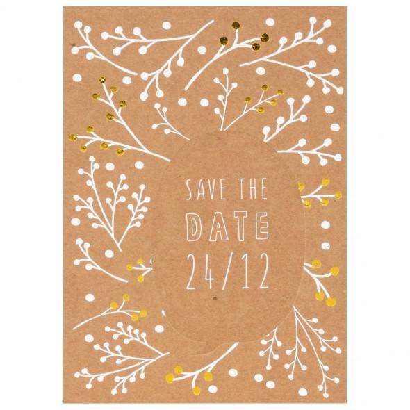Carte de Noël - Save the date