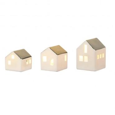 Set de 3 petits photophores - Maison