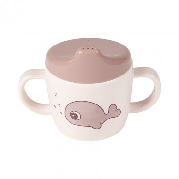 Tasse d'apprentissage - Sea friends, rose
