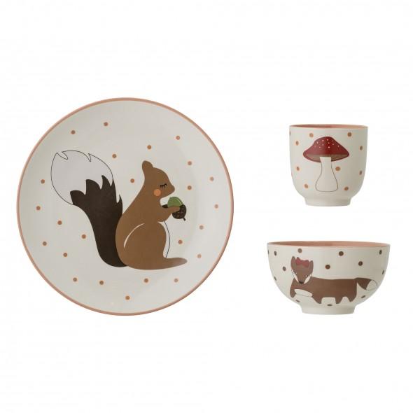 Set de vaisselle en grès - Forêt