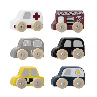 Set de 6 voitures en bois