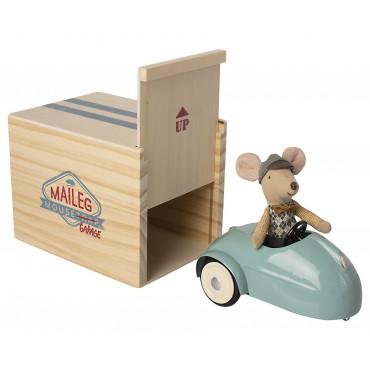 Voiture de souris avec garage (bleu)