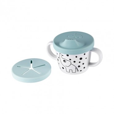 Tasse d'apprentissage / collation -Elphee, blue