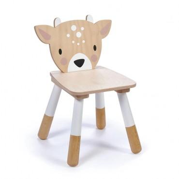 Chaise en bois - Cerf