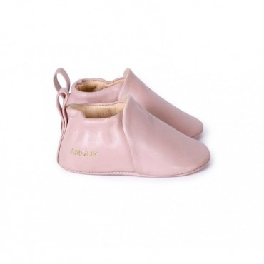 Chaussons en cuir Amour - Rose