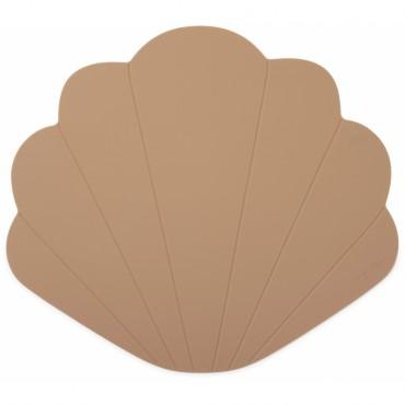 Set de table Coquillage en silicone - Blush
