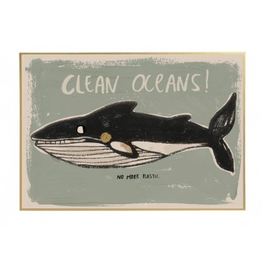 Poster by StudioLoco - Clean oceans (50x70 cm)