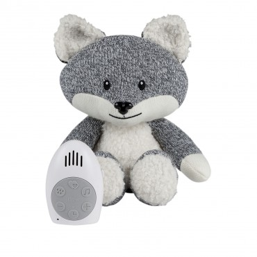 Peluche bébé comforter - Renard Robin (gris)