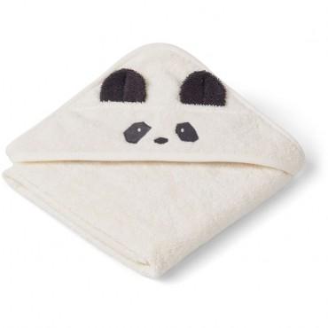 Sortie de bain Albert - Panda (crème)