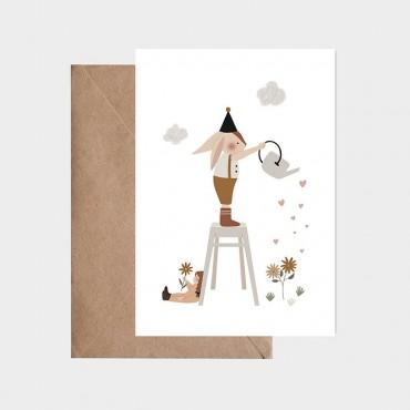 Carte postale - Arroser le bonheur