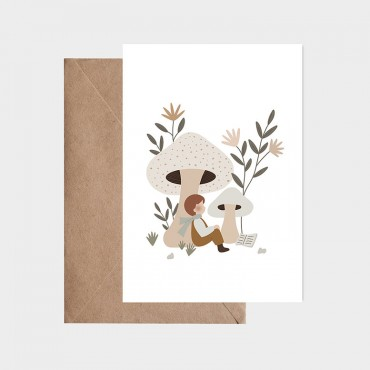 Carte postale - Flâner sous les champignons