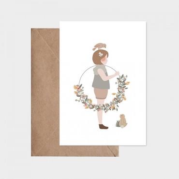 Carte postale - La petite fille à la couronne