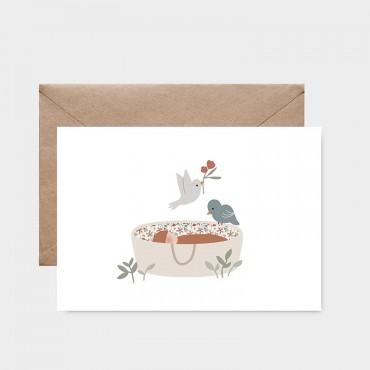 Carte postale - Sur mon berceau bleu