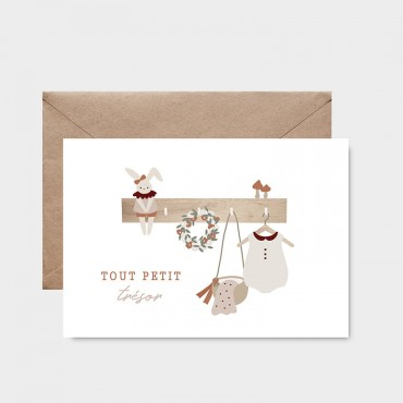 Carte postale - Tout petit trésor fille