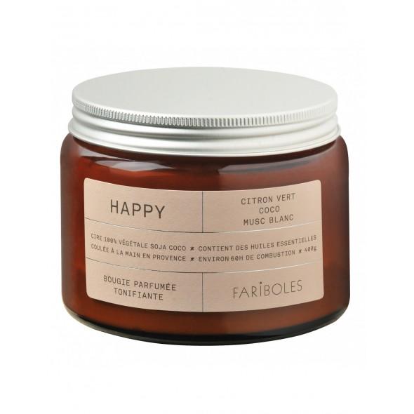 Bougie naturelle - Happy (400 g)